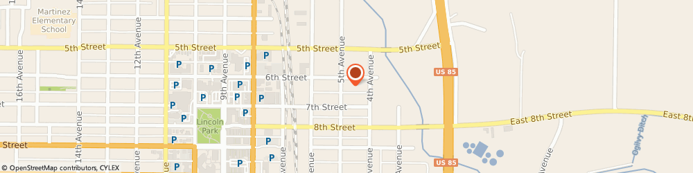 Route/map/directions to Bob Behrends Roofing Llc, 80631 Greeley, 614 5Th Avenue