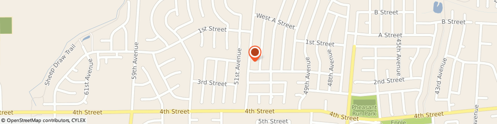 Route/map/directions to Stirstick Studio, 80634 Greeley, 177 50TH AVENUE PLACE