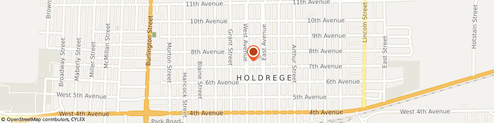 Route/map/directions to Tutoring Tots, 68949 Holdrege, 704 West Ave