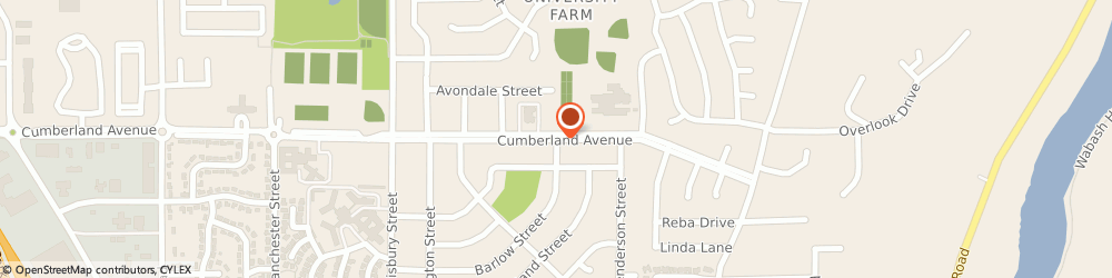 Route/map/directions to Cumberland Pointe Health Campus, 47906 Lafayette, 1051 Cumberland Ave