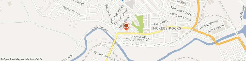 Route/map/directions to Post 418 Vesle Post, 15136 Mckees Rocks, 1242 Chartiers Ave