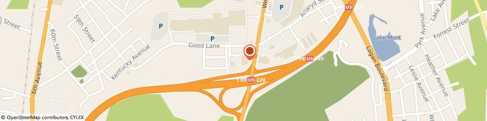 Route/map/directions to Hampton Inn Altoona, 16601 Altoona, 180 Charlotte Drive