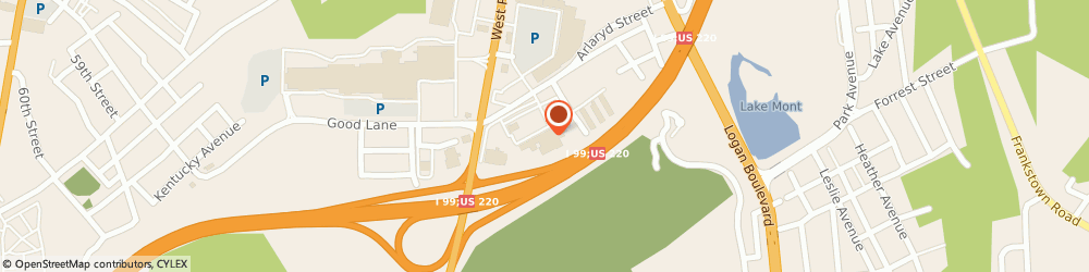 Route/map/directions to Cosmo Prof Altoona, 16601 Altoona, 415 Orchard Ave.