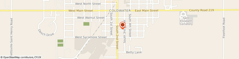 Route/map/directions to Alcoholics Anonymous, 45828 Coldwater, 100 E COLLEGE ST