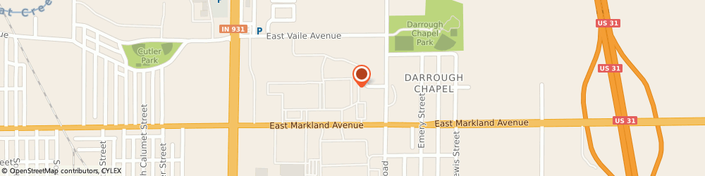 Route/map/directions to Affordable Dentures & Implants, 46901 Kokomo, 2220 E. Markland Avenue