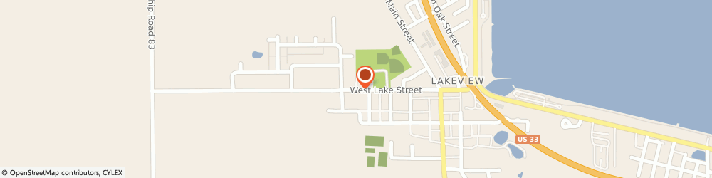 Route/map/directions to Nationwide Curtis L Peterson, 43331 Lakeview, 210 W Lake St