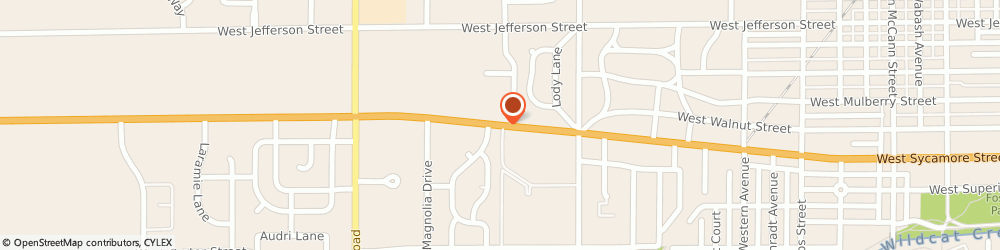 Route/map/directions to Kokomo Implant and Oral Surgery, 46901 Kokomo, 2008 W Sycamore St