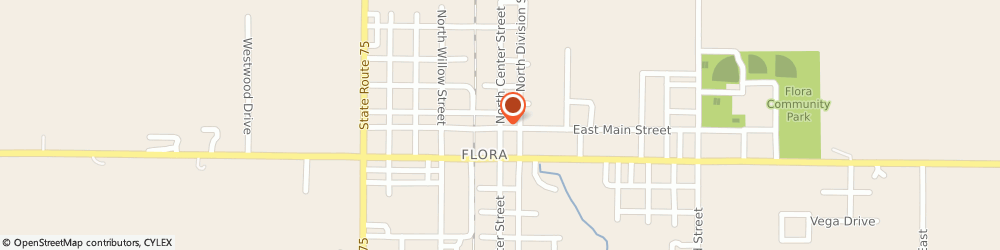 Route/map/directions to Napa Auto Parts, 46929 Flora, 21 N CENTER ST