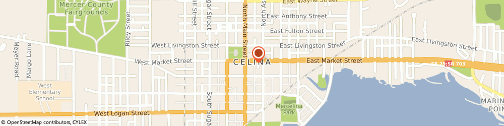 Route/map/directions to Domino's Pizza, 45822-1731 Celina, 114 E Market St