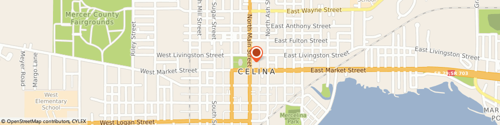 Route/map/directions to State Farm Insurance, 45822 Celina, 114 North Main Street