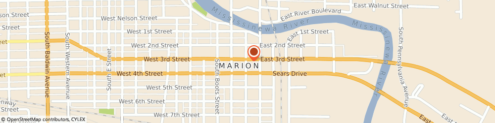 Route/map/directions to K B Computers, 46952 Marion, 305 S Adams St