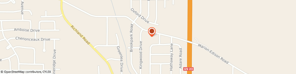 Route/map/directions to The Church of Jesus Christ of Latter-day Saints, 43302 Marion, 1725 Marion Edison Road