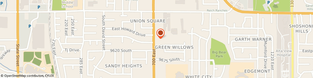 Route/map/directions to Subway, 84070 Sandy, 9581 South 700 East