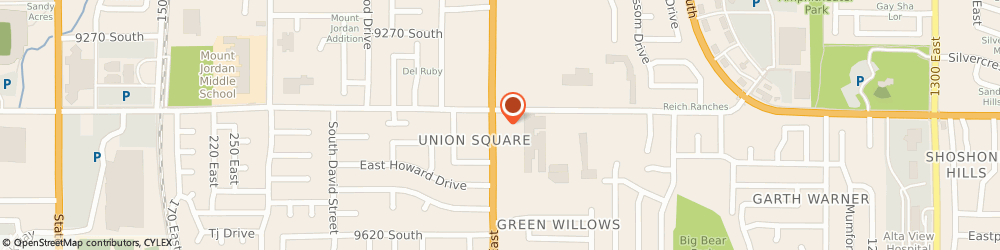 Route/map/directions to Chevron Corporation, 84094 Sandy, 9401 S 700 E