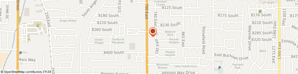 Route/map/directions to Safeco Insurance Agent, 84070-0504 Sandy, 8307 S 700 E