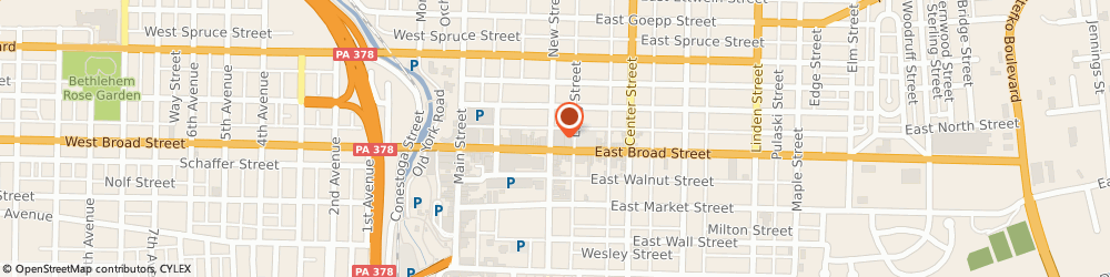 Route/map/directions to PostNet, 18018 Bethlehem, 1 E Broad St