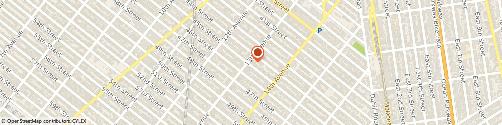 Route/map/directions to Roosevelt Savings Bank, a division of New York Community Bank, 11219 Brooklyn, 4419 13th Avenue