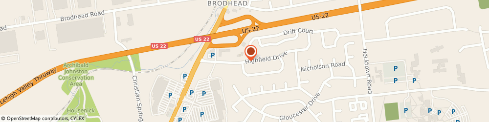 Route/map/directions to Comfort Inn, 18020 Bethlehem, 3191 HIGHFIELD DR