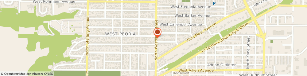 Route/map/directions to Diversified Mechanical, Inc., 61604 Peoria, 329 N Western Ave