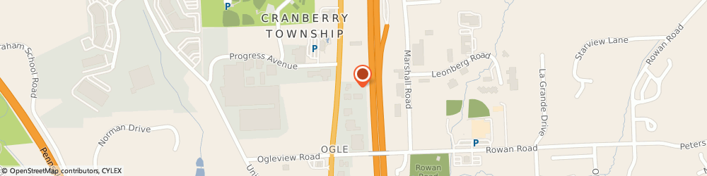 Route/map/directions to U-Haul Co., 16066 Cranberry Township, 20644 ROUTE 19
