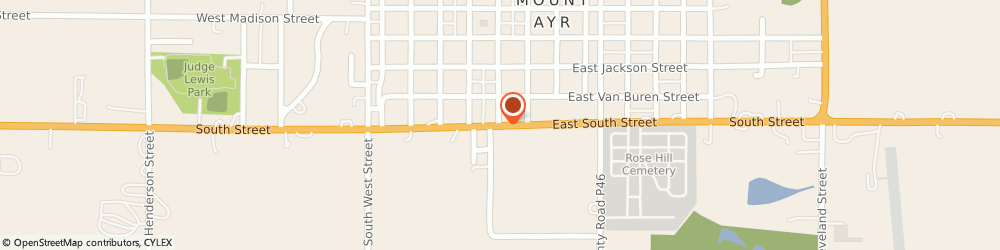 Route/map/directions to Navy Federal Credit Union, 50854 Mount Ayr, 100 E South Str