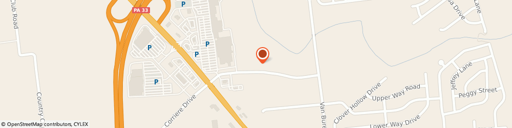 Route/map/directions to Palmer View Apartments, 18045 Palmer Township, 3600 Corriere Road