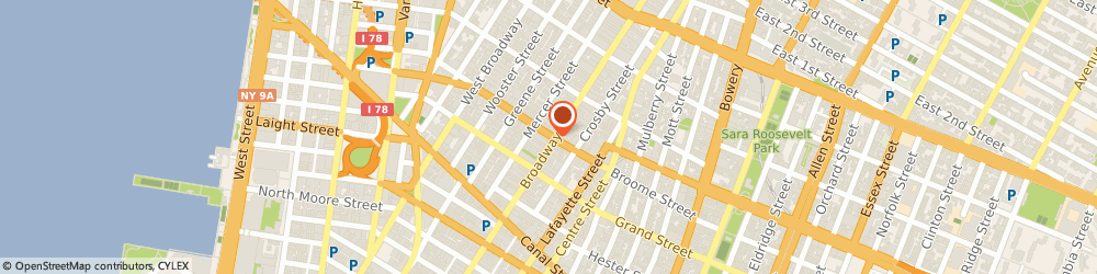 Route/map/directions to ALIMI PLUMBING, 10013 New York, 445 BROOME STREET