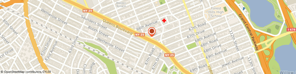 Route/map/directions to Devry University, 11374 Rego Park, 99-21 Queens Blvd.