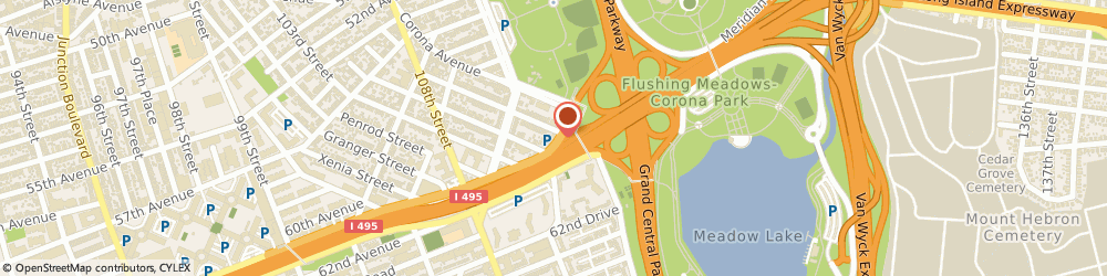 Route/map/directions to Holiday Inn Express LaGuardia Arpt, 11368 Flushing, 113-10 Horace Harding Expressway