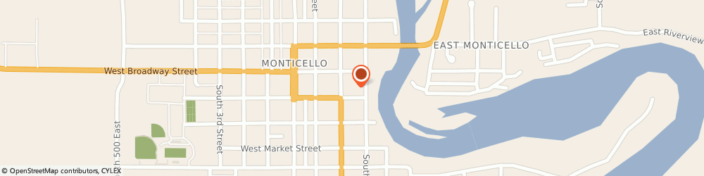 Route/map/directions to NAPA Auto Parts - Monticello Auto Parts, 47960 Monticello, 125 S Main St