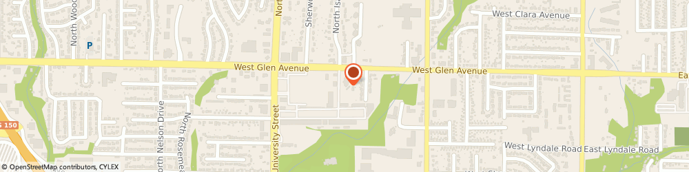 Route/map/directions to PNC BANK, 61614 Peoria, 1100 W Glen
