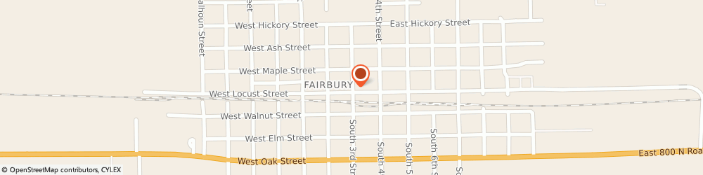 Route/map/directions to Keck's Agency Inc, 61739 Fairbury, 118 N 3RD ST