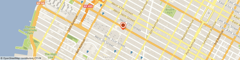 Route/map/directions to Johnny Rockets Penn Station, 10119 New York City, 1 Penn Plaza