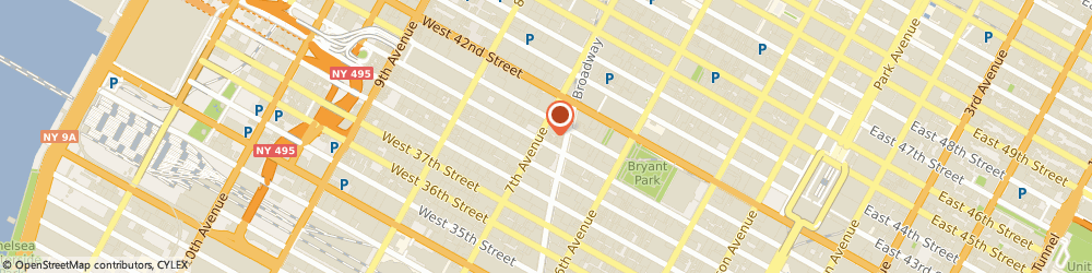 Route/map/directions to BURGER KING, 10018 New York, 561 FASHION AVE # 1