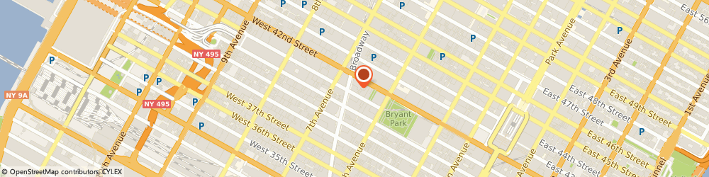 Route/map/directions to STARBUCKS COFFEE, 10036 New York, 1460 Broadway