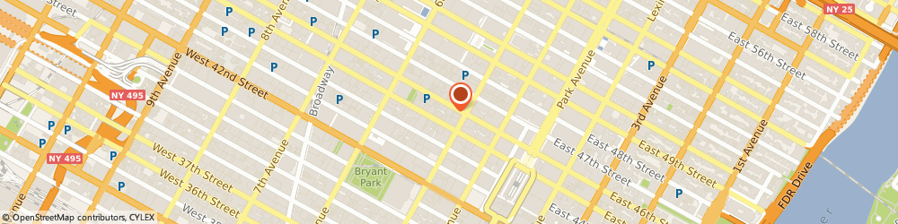 Route/map/directions to CryoVigor, 10036 New York, 2 West 46th Street, Suite 505