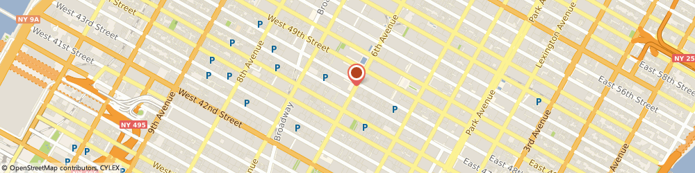 Route/map/directions to NEW ENGLAND AUTO TRANSPORT, 10036 New York, 1211 Avenue of the Americas