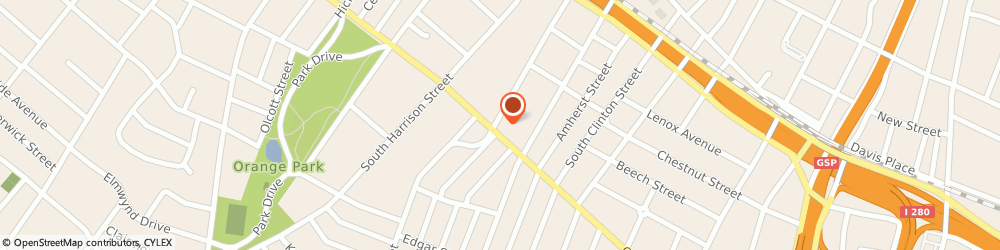 Route/map/directions to Santander Bank, 07018 East Orange, 554 Central Avenue