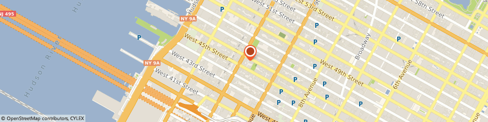 Route/map/directions to 10TH AVENUE CHECK CASHING CORPORATION, 10036 New York, 644 10TH AVE # 1