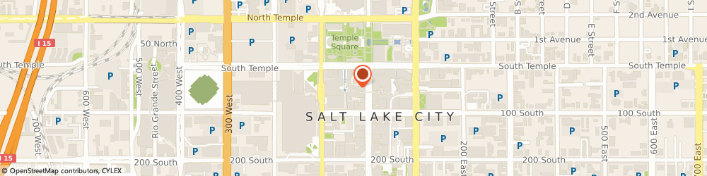 Route/map/directions to Apple City Creek Center, 84101 Salt Lake City, 50 South Main Street