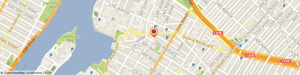 Route/map/directions to Creative Curtains & Blinds, 11102 Astoria, 2814 14TH ST