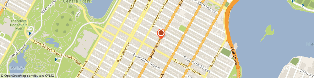 Route/map/directions to FABRIZIO ART STUDIO INCORPORATED, 10128 New York, 1556 Third Avenue