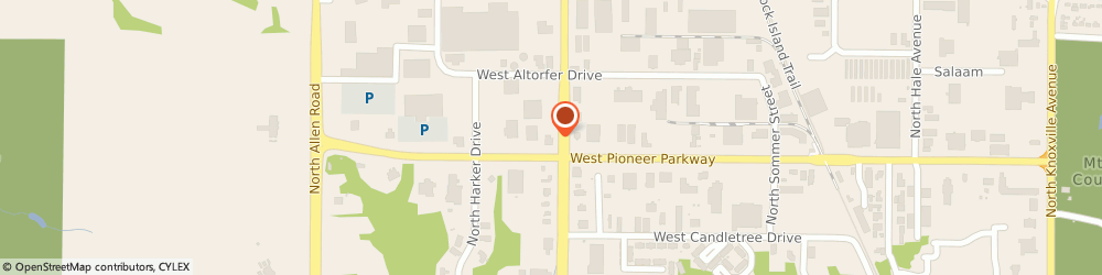 Route/map/directions to PNC BANK, 61615 Peoria, 7901 N University St