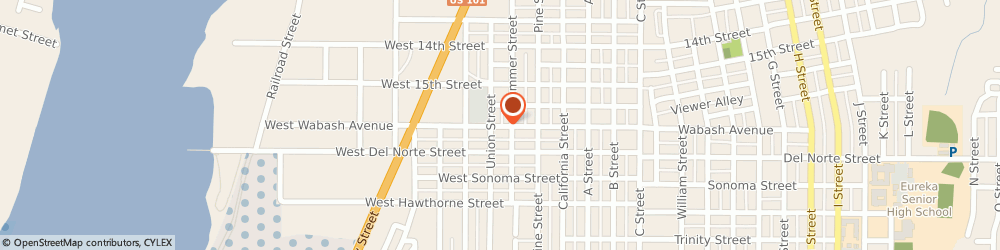 Route/map/directions to Holt of California, 95501 Eureka, 1141 West Wabash Avenue