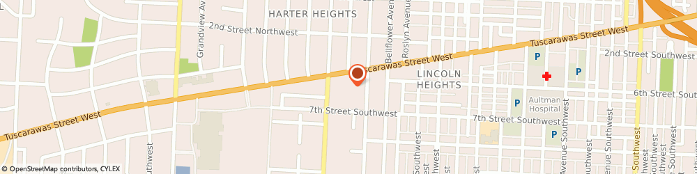 Route/map/directions to Citizens Bank, 44708 Canton, 3528 W Tuscarawas St
