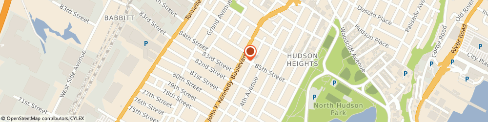 Route/map/directions to Post Office - Station #2 n Bergen, 07047 North Bergen, 8414 KENNEDY BOULEVARD STE 1