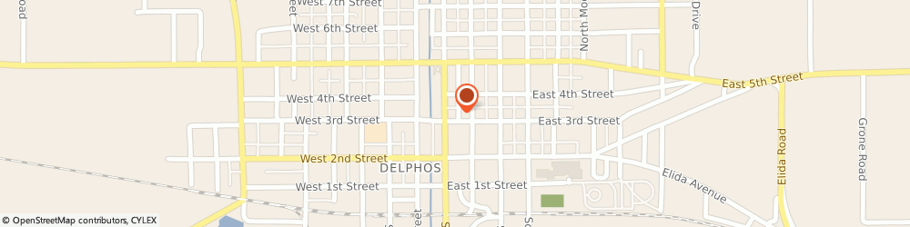 Route/map/directions to CITIBANK ATM, 45833 Delphos, 114 E. Third St