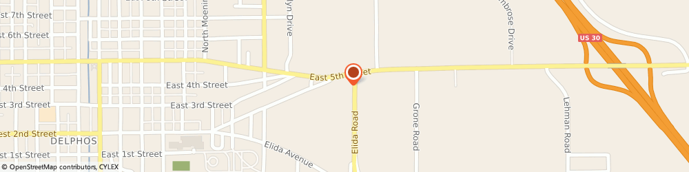 Route/map/directions to Citibank ATM, 45833 Delphos, 1303 E Fifth St