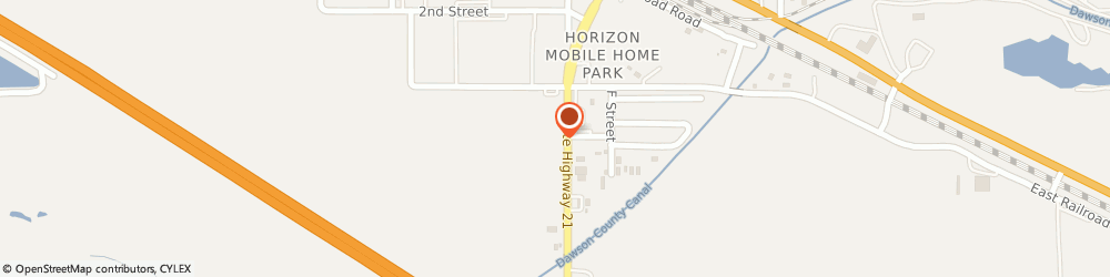 Route/map/directions to Pizza Hut, 69130 Cozad, 315 S Meridian Ave