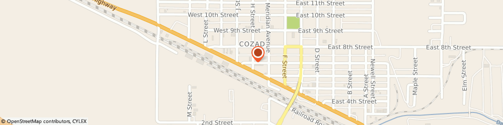 Route/map/directions to U-Haul Co., 69130 Cozad, 210 W 7TH ST
